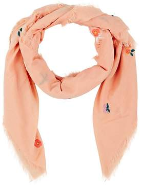 Barneys New York WOMEN'S EMBROIDERED COTTON VOILE SCARF
