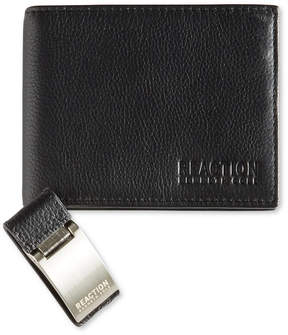 Kenneth Cole Reaction Men's Leather Passcase Wallet & Money Clip