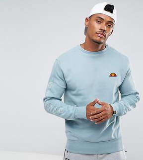 Ellesse Sweatshirt With Sleeve Split Logo In Blue