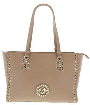 Versace EE1VRBBI1 Light Brown Tote Bag W/h detachable strap
