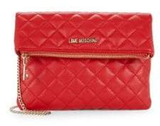 Love Moschino Foldover Quilted Clutch
