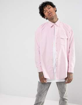 Jaded London Shirt In Pink Cord Reg Fit