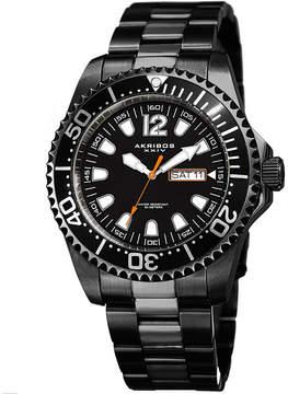 Akribos XXIV Mens Black Strap Watch-A-947bk