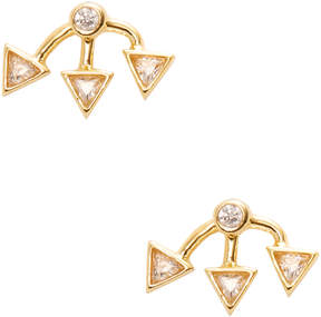 Rivka Friedman Women's 18K Gold Stud Earrings with CZ