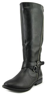 Rampage Illusive Women Round Toe Synthetic Black Knee High Boot.