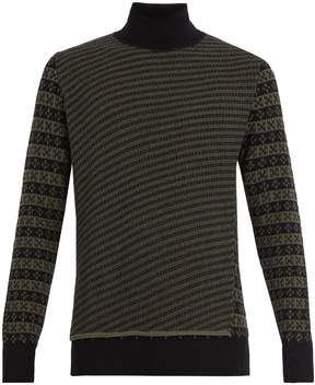 Maison Margiela Roll-neck wool-jacquard sweater