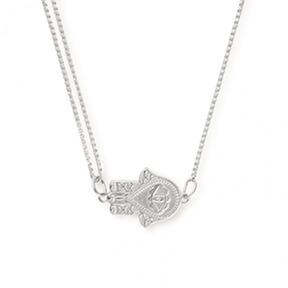 Alex and Ani Hand of Fatima Pull Chain Necklace