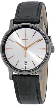 Rado DiaMaster Silver Dial Ladies Leather Watch