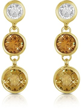 A-Z Collection Three-tone Drop Earrings