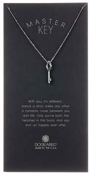 Dogeared Sterling Silver 'Master Key' Beaded Large Vintage Key Pendant Necklace