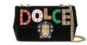 Dolce & Gabbana Dolce E Gabbana Women's Black Cotton Shoulder Bag. - BLACK - STYLE