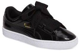 Puma Girl's Basket Heart Glam Sneaker