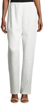 Caroline Rose Linen Straight-Leg Pants