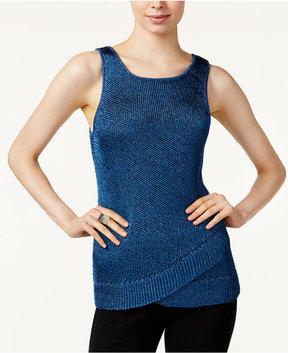 Bar III Metallic Sweater Tank Top, Created for Macy's