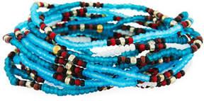 Neiman Marcus On the Bead Beaded Bracelet, Turquoise Color