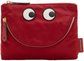 Anya Hindmarch Red Happy Eyes Pouch