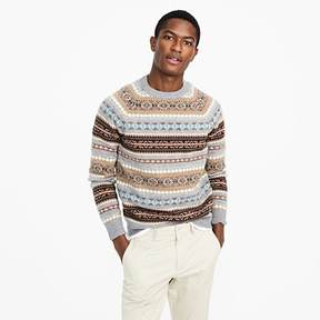J.Crew Lambswool Fair Isle crewneck sweater in granite