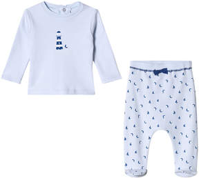 Absorba Pale Blue Lighthouse Print T-Shirt and Bottoms Set