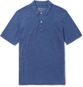 Hartford Slub Linen-Jersey Polo Shirt