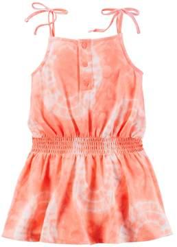 Carter's Girls 4-8 Tie-Dye Smocked-Waist Jersey Dress