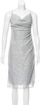 Laundry by Shelli Segal Metallic Midi Dress w/ Tags