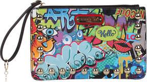 Nicole Lee Street Style Graffiti Print Wristlet (Women's)