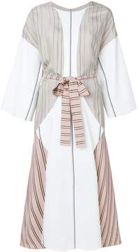 Esteban Cortazar contrast belted midi dress