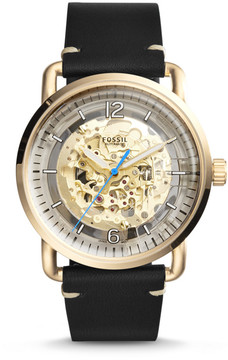 Fossil The Commuter Automatic Black Leather Watch