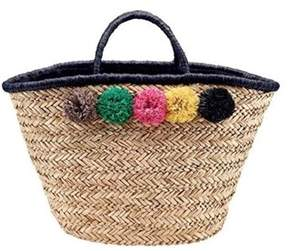 San Diego Hat Company Women's Pom Seagrass Tote Bsb1714.