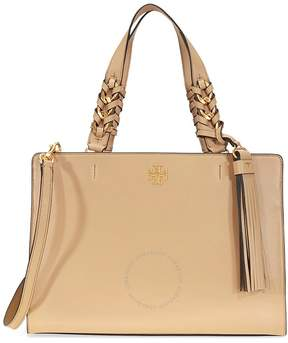 Tory Burch Brooke Smooth Leather Satchel- Savannah - ONE COLOR - STYLE