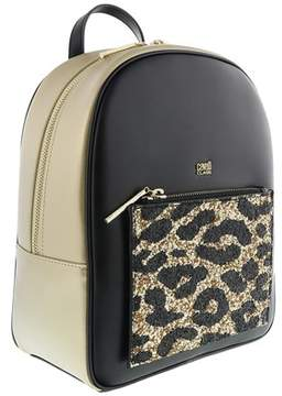 Roberto Cavalli Milano Backpack Milano Rmx 003 Light Gold/black Backpack