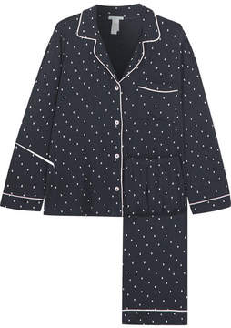 Eberjey Printed Stretch-jersey Pajama Set - Navy