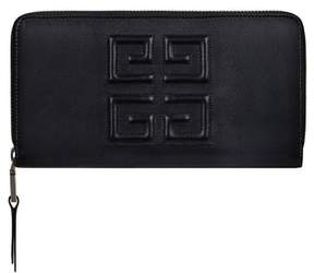 Givenchy Embossed Logo Leather Zip Around Wallet