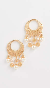 Ben-Amun Earrings with Multi Imitation Pearl Drop