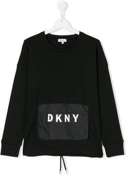 DKNY sweatshirt with front logo patch