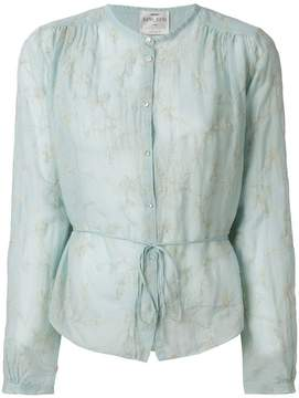 Forte Forte waist-tied sheer blouse