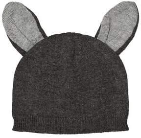 Absorba Grey Knit Beanie with Ears