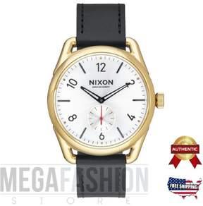Nixon NEW Men's A4592226-00 C39 Leather Analog Display Quartz Black Watch A459-2226-00
