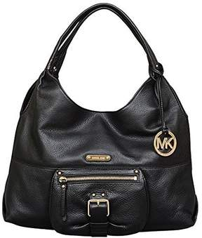 Michael Kors Austin Leather Large Shoulder Tote Bag, Black - BLACK - STYLE