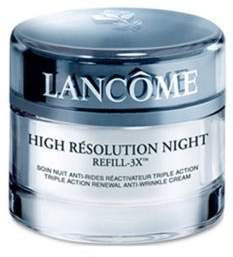 Lancome High Resolution Night Refill-3X Triple Action Renewal Anti-Wrinkle Night Cream/2.6 oz.