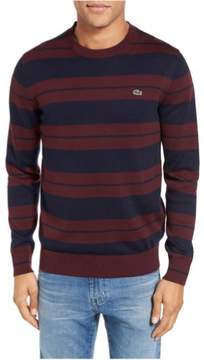 Lacoste Mens Jersey Stripe Pullover Sweater