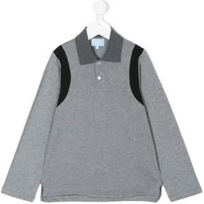 Lanvin Enfant contrast-trim long sleeved polo shirt