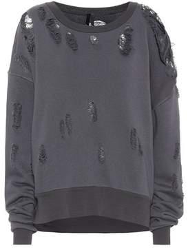 Unravel Distressed cotton sweatshirt