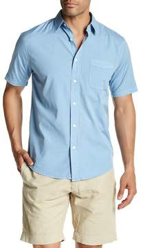 Faherty BRAND Short Sleeve Solid Regular Fit Shirt