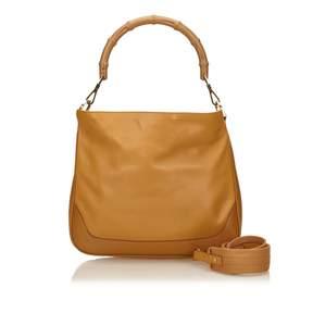 Gucci Bamboo leather handbag - BROWN - STYLE