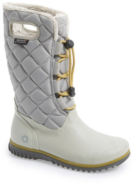 Bogs June High Waterproof Quilted Faux Fur Lined Boot