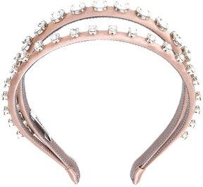 Miu Miu crystal-embellished double headband