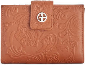 Giani Bernini Sandalwood Tooled Wallet, Created for Macy's