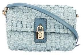 Dolce & Gabbana Woven Raffia Crossbody Bag