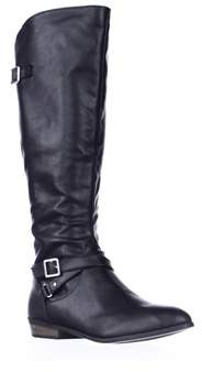 Material Girl Mg35 Capri Riding Boots, Black.